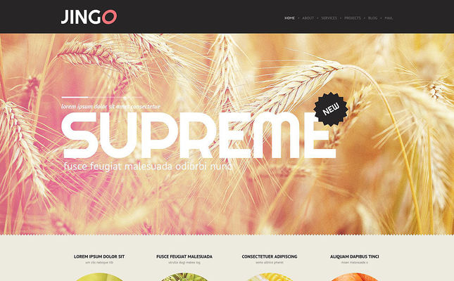 Agriculture WordPress Theme (farming and agricultural WordPress theme) Screenshot