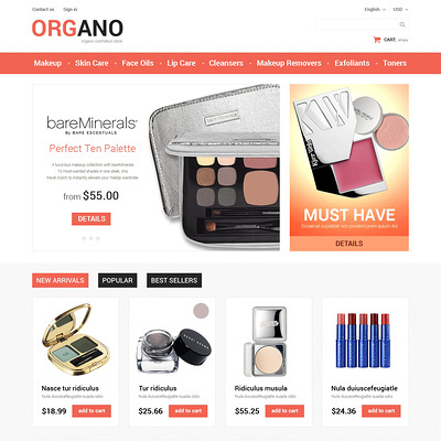 All Occasions Beauty PrestaShop Theme (PrestaShop theme for makeup, cosmetics, perfume, and beauty products) Item Picture