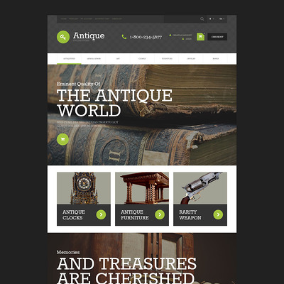 Antique Store OpenCart Template (OpenCart theme for antique stores) Item Picture