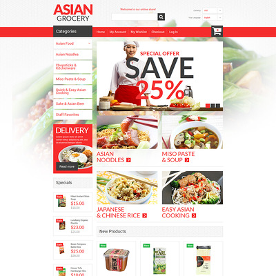 Asian Specialties Magento Theme (Magento theme for selling food and spices) Item Picture