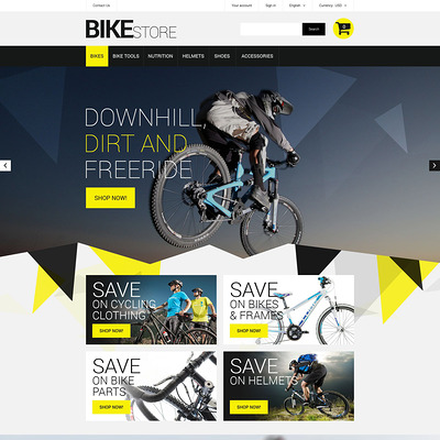 Bike Store PrestaShop Theme (PrestaShop themes for bicycles and cycling equipment) Item Picture