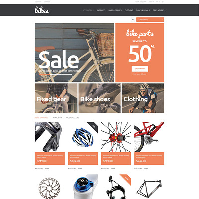 Bikes PrestaShop Theme (PrestaShop themes for bicycles and cycling equipment) Item Picture