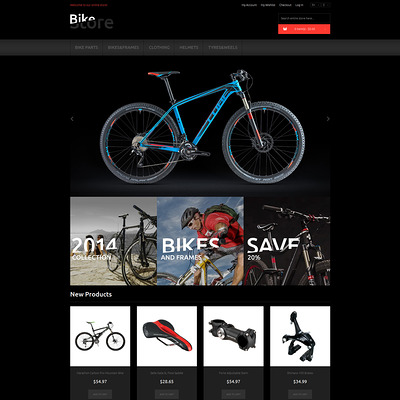 Bikes and Supplies Magento Theme (Magento theme for sports stores) Item Picture