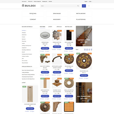 Buildex OpenCart Template (OpenCart theme for home improvement and consttruction supply stores) Item Picture
