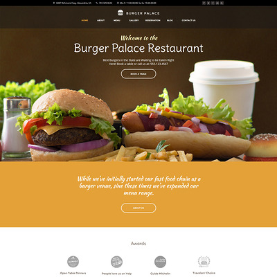 Burger Palace (WordPress theme for restaurants) Item Picture