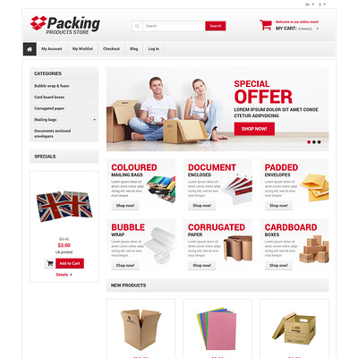 Business Responsive Magento Theme (Magento theme for office supplies and stationery) Item Picture