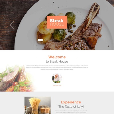 Cafe and Restaurant Drupal Template (Drupal theme for restaurants) Item Picture
