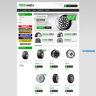 Car Tires Shopify Theme (Shopify theme for car, vehicle, and automotive stores) Item Picture
