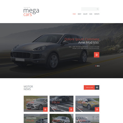 Cars Fan Site Joomla Template (Joomla template for car, vehicle, and automotive websites) Item Picture