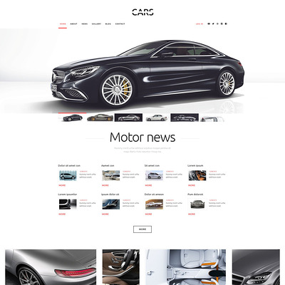 Cars WordPress Theme (WordPress theme for car, vehicle, and automotive websites) Item Picture