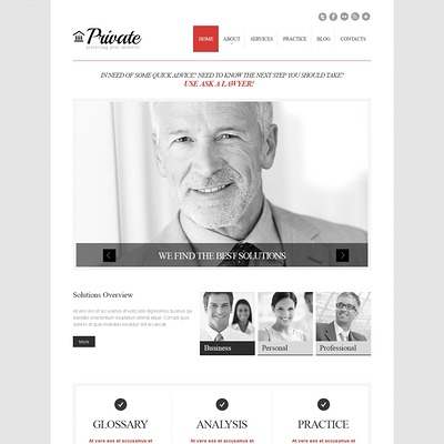 Cherry Law Firm WordPress Theme (WordPress theme for lawyers and law firms) Item Picture