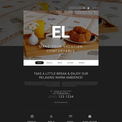 City Hotel Joomla Template (Joomla template for hotels) Item Picture