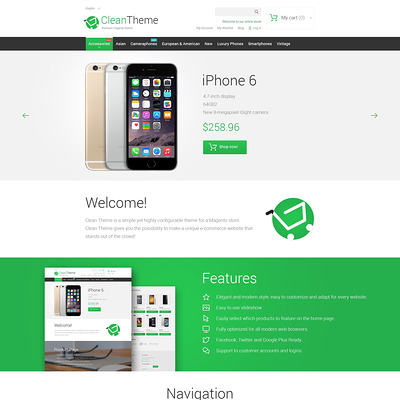 Clean Theme Magento Theme (Magento theme for electronics stores) Item Picture