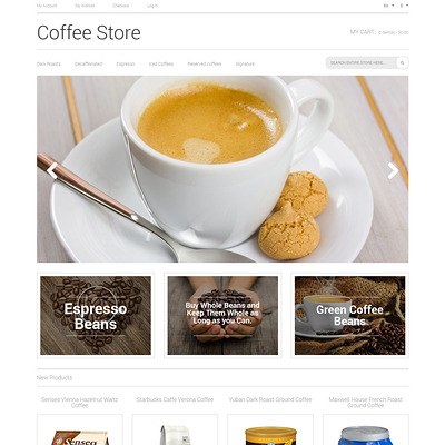 Coffee Aroma Magento Theme (Magento theme for coffee and tea stores) Item Picture