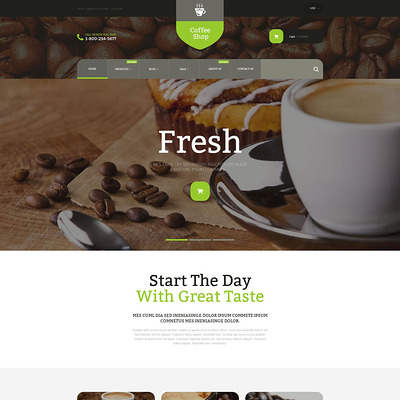 Coffee Store Shopify Theme (Shopify theme for wine, coffee, juice, tea, and other drinks) Item Picture