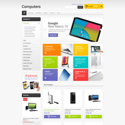 Computer Store Responsive Magento Theme (Magento theme for computers and hardware) Item Picture