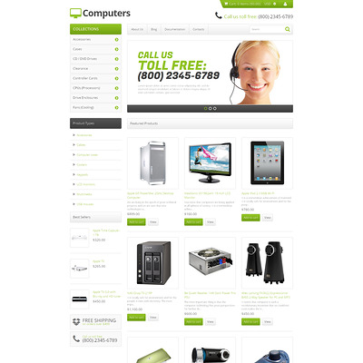 Computer Store Responsive Shopify Theme (Shopify theme for electronics stores) Item Picture