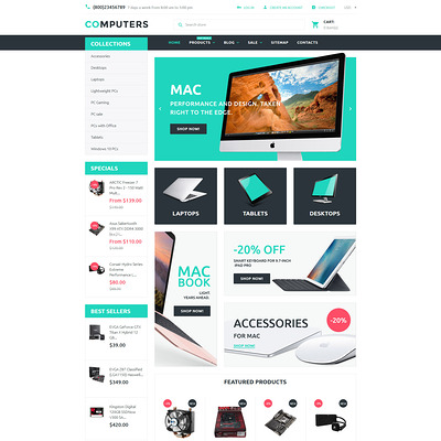 Computers Shopify Theme (Shopify theme for electronics stores) Item Picture