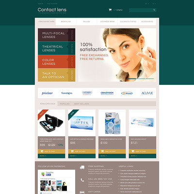 Contact Lens Store PrestaShop Theme (PrestaShop theme for health and medical stores) Item Picture