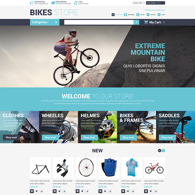 Cycling Store Magento Theme (Magento theme for sports stores) Item Picture