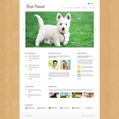 Dog Responsive Joomla Template (Joomla template for websites about pets and animals) Item Picture
