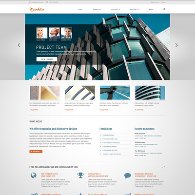 Drafting Responsive Joomla Template (Joomla template for architecture ) Item Picture