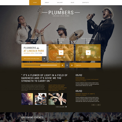 Dream Rock Band Project Joomla Template (Joomla template for music websites) Item Picture