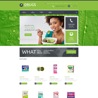 Drug Store Responsive OpenCart Template (OpenCart theme for health and medical stores) Item Picture