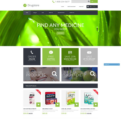 Drugstore Shopify Theme (Shopify theme for medical and health stores) Item Picture