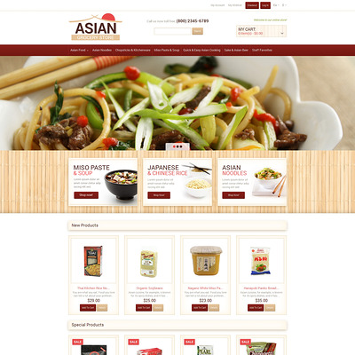Eastern Food Shop Magento Theme (Magento theme for selling food and spices) Item Picture
