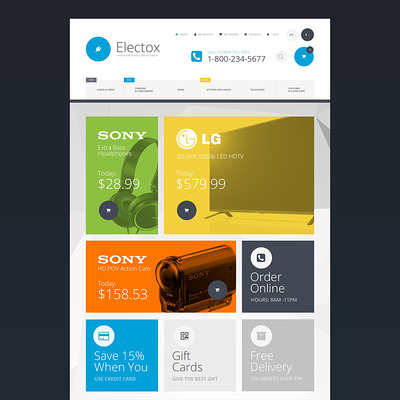 Electox Magento Theme (Magento theme for electronics stores) Item Picture