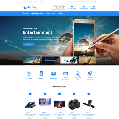 Electro Magento Theme (Magento theme for electronics stores) Item Picture
