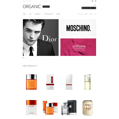 Exclusive Perfumes Magento Theme (Magento theme for hair and beauty products) Item Picture