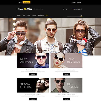 Exclusive Sunglasses PrestaShop Theme (PrestaShop theme for sunglasses and eyewear) Item Picture
