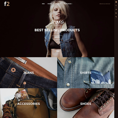 F2 (Magento theme for mens and womens clothing) Item Picture