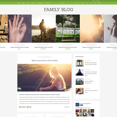 Family Blog Joomla Template (Joomla template for family websites) Item Picture