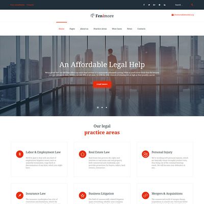 Fenimore (WordPress theme for lawyers and law firms) Item Picture