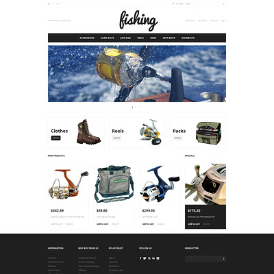 Fishing Sport Magento Theme (Magento theme for fishing equipment) Item Picture