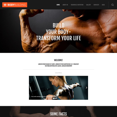 Fitness Responsive WordPress Theme (WordPress theme for gym and fitness) Item Picture