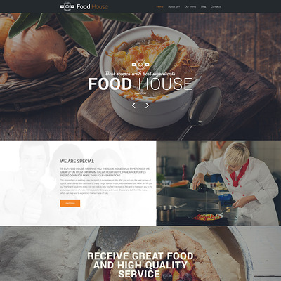 Food House Drupal Template (Drupal theme for restaurants) Item Picture