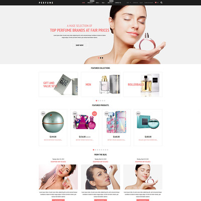 Fragrance Store Shopify Theme (Shopify theme for cosmetics and beauty products) Item Picture