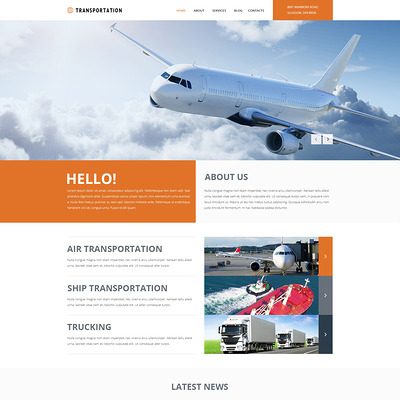 Freight Shipping Group Joomla Template (Joomla template for transportation) Item Picture