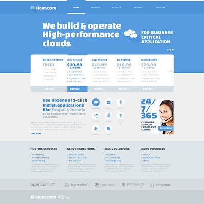 Friendly Hosting Joomla Template (Joomla template for web hosting companies) Item Picture