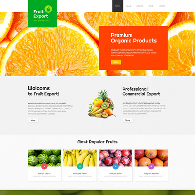 Fruit Export Joomla Template (Joomla theme for agriculture and farms) Item Picture