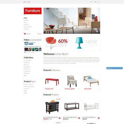 Furniture Pieces Shopify Theme (Shopify theme for furniture stores) Item Picture