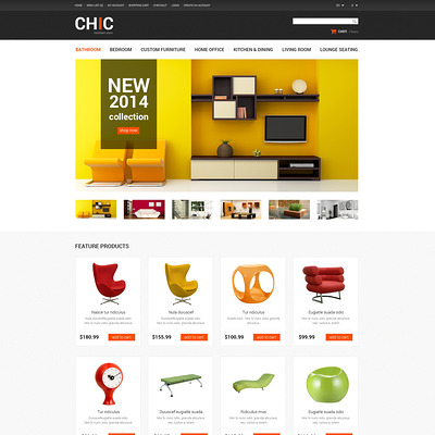 Furniture Store OpenCart Template (OpenCart themes for furniture stores) Item Picture