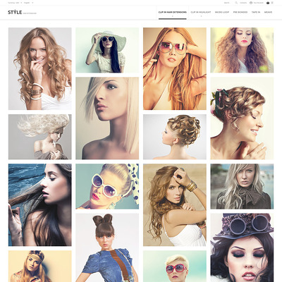 HairStyle PrestaShop Theme (PrestaShop theme for hair extensions and hair products) Item Picture