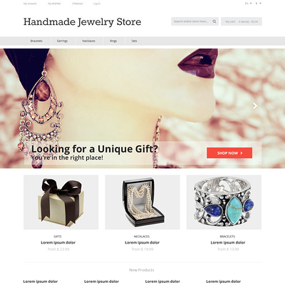 Handmade Jewelry Magento Theme (Magento theme for selling jewelry and watches) Item Picture