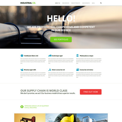 Industrial Template Joomla Template (Joomla template for industrial companies) Item Picture