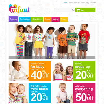 Infant PrestaShop Theme (PrestaShop theme for clothing for babies, kids, and children) Item Picture
